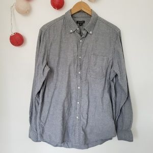 GEORGE button down cotton long sleeve polo M